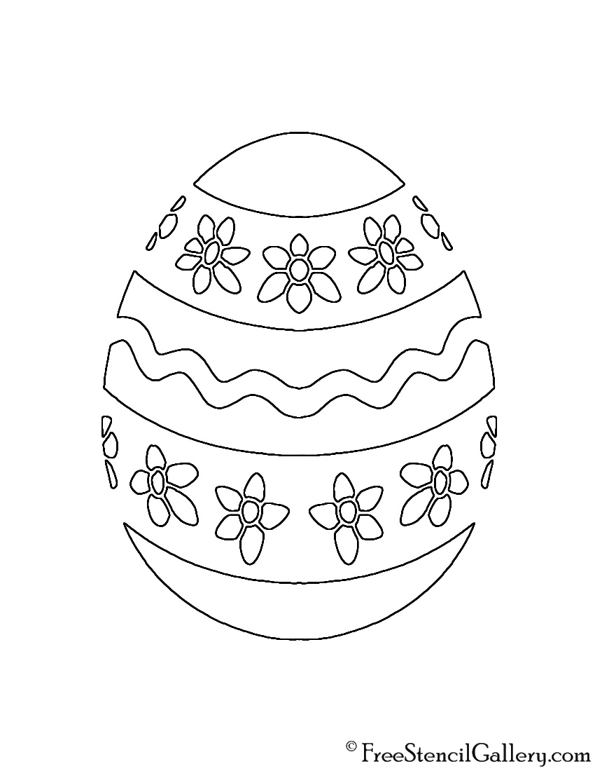 Easter Egg 06 Stencil | Free Stencil Gallery