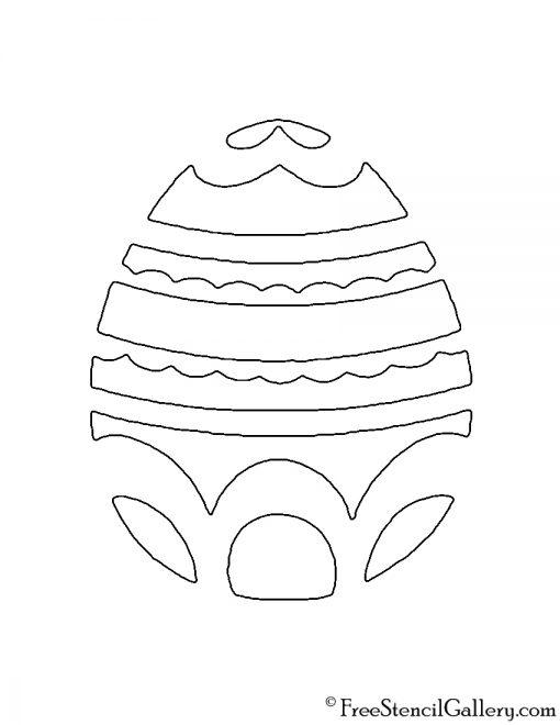 Easter Egg 08 Stencil