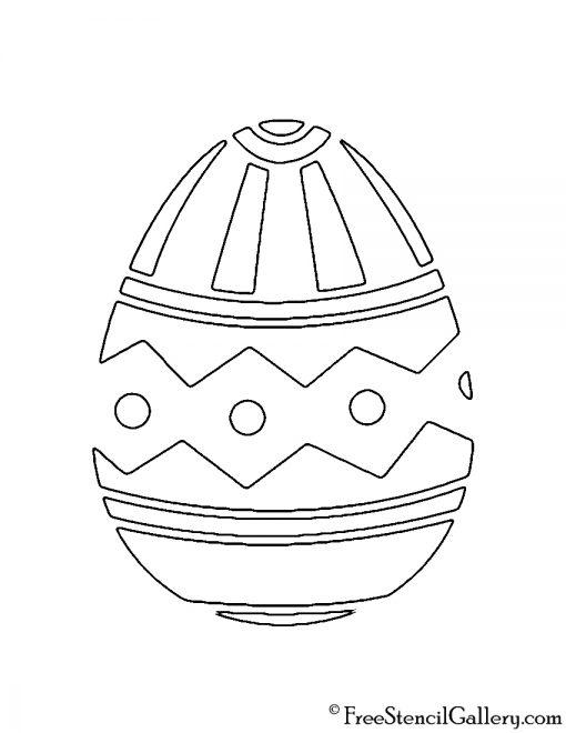 Easter Egg 09 Stencil