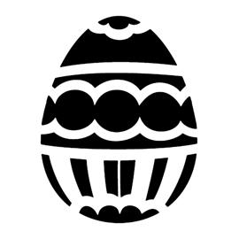 Easter Egg 10 Stencil