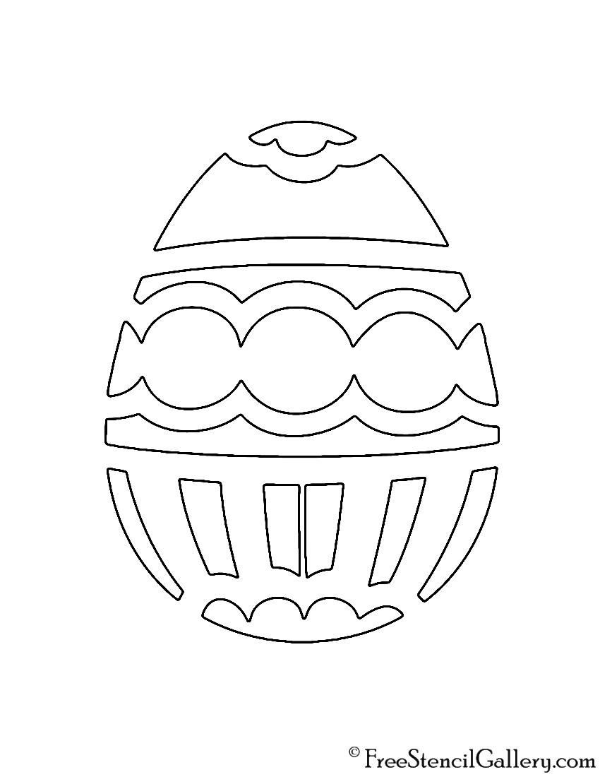 Easter Egg 10 Stencil Free Stencil Gallery