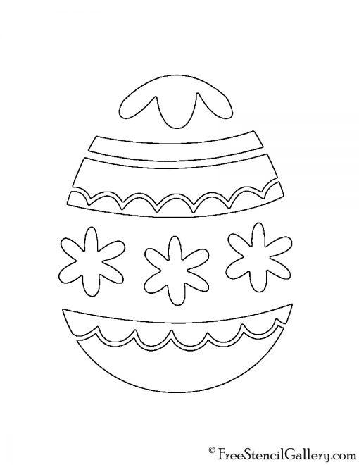 Easter Egg 11 Stencil