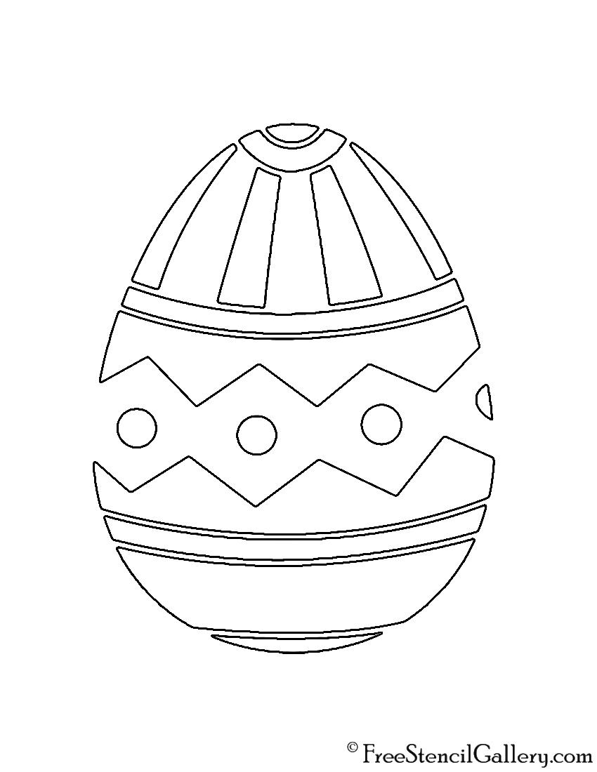 Easter Egg 12 Stencil