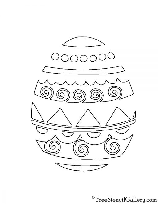 Easter Egg 13 Stencil