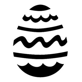Easter Egg 18 Stencil
