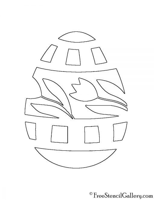 Easter Egg 19 Stencil