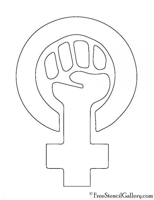 Feminism Symbol Stencil