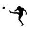 Football Kicker Silhouette Stencil