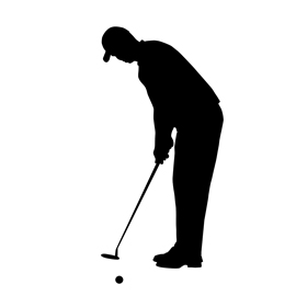 Golfer Silhouette 02 Stencil