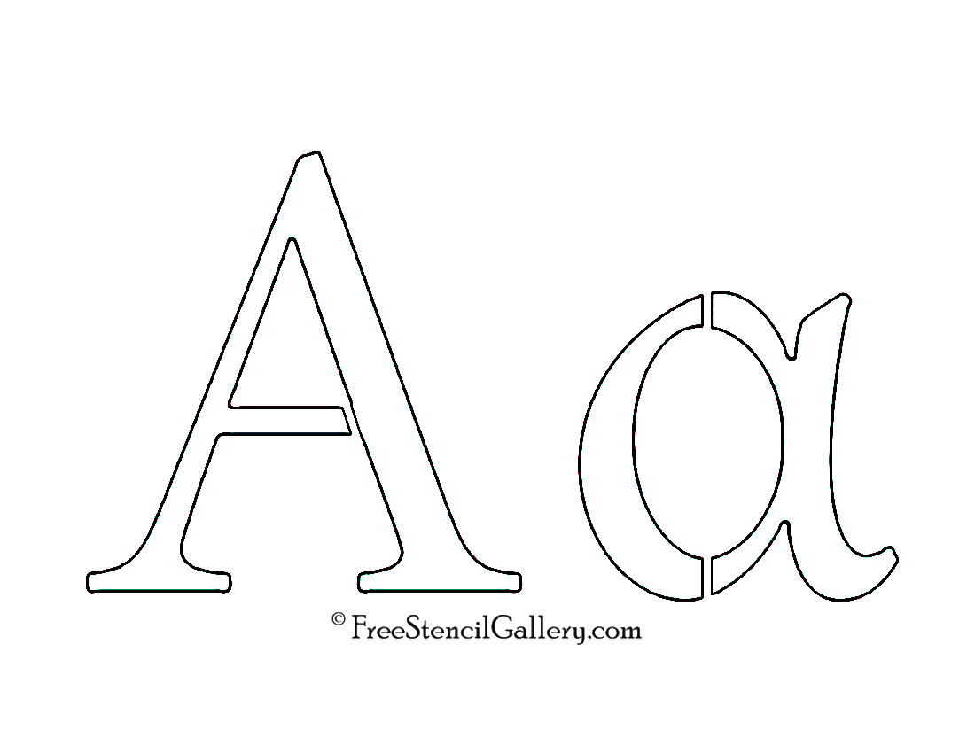 This is a graphic of Greek Letters Stencils Printable for 19th