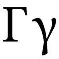 Greek Letter - Gamma