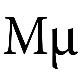 Greek Letter – Mu