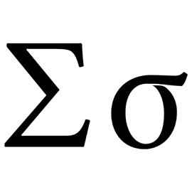 Greek Letter – Sigma