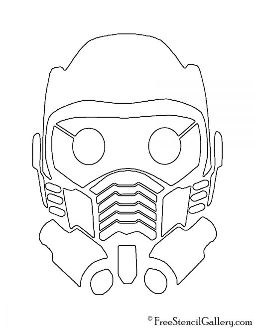 Guardians of the Galaxy - Star Lord Mask Stencil | Free ...