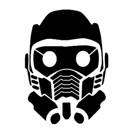 Guardians of the Galaxy – Star Lord Mask Stencil
