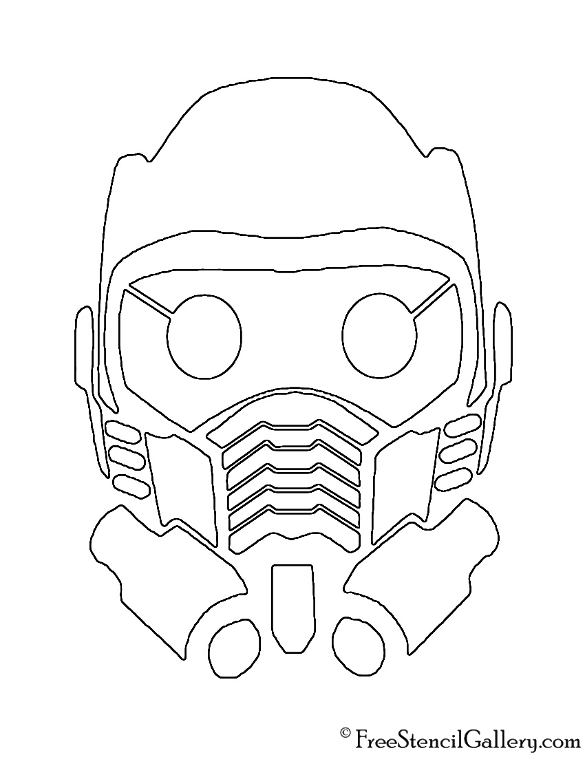 Guardians of the Galaxy - Star Lord Mask Stencil