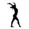 Gymnast Silhouette 02 Stencil