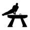 Gymnast Silhouette 03 Stencil
