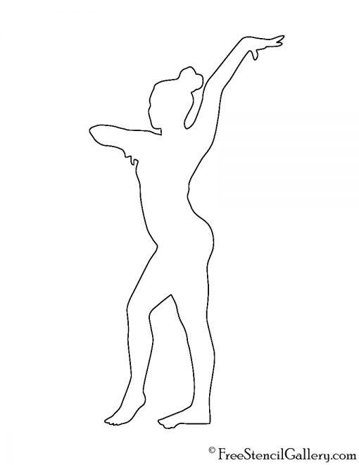 Gymnast Silhouette Stencil