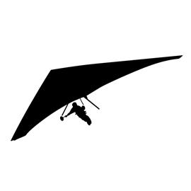 Hang Glider Silhouette Stencil