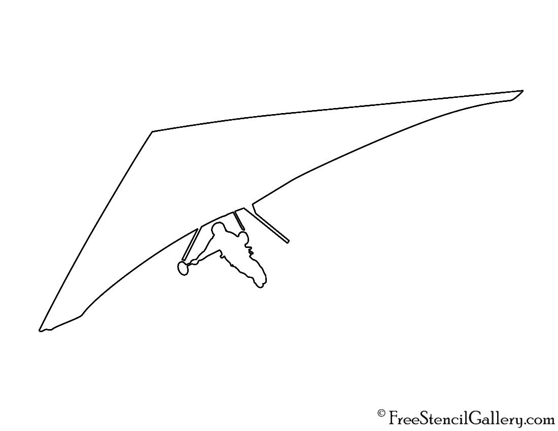 Hang Glider Silhouette Stencil Free Stencil Gallery