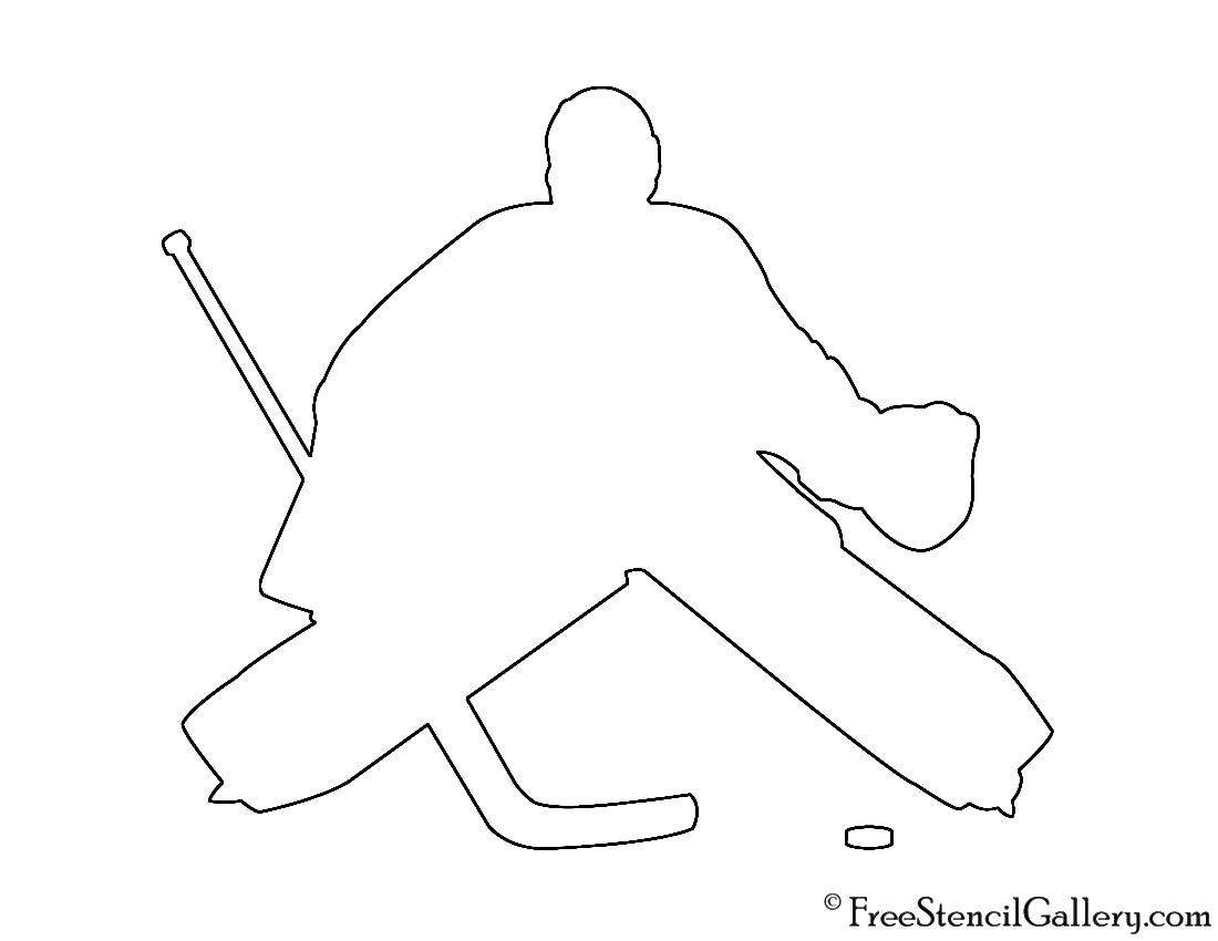 Hockey Goalie Silhouette Stencil Free Stencil Gallery