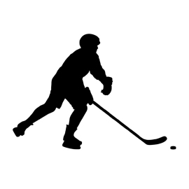 Hockey Player Silhouette Stencil