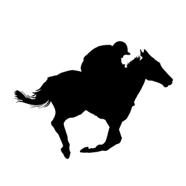 Horse Racing Silhouette Stencil