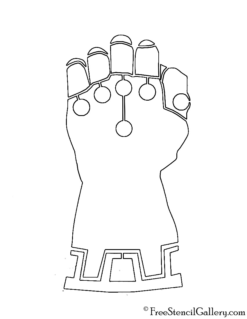 Infinity Gauntlet Stencil