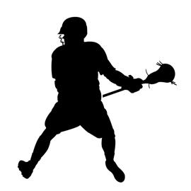 Lacrosse Player Silhouette 02 Stencil