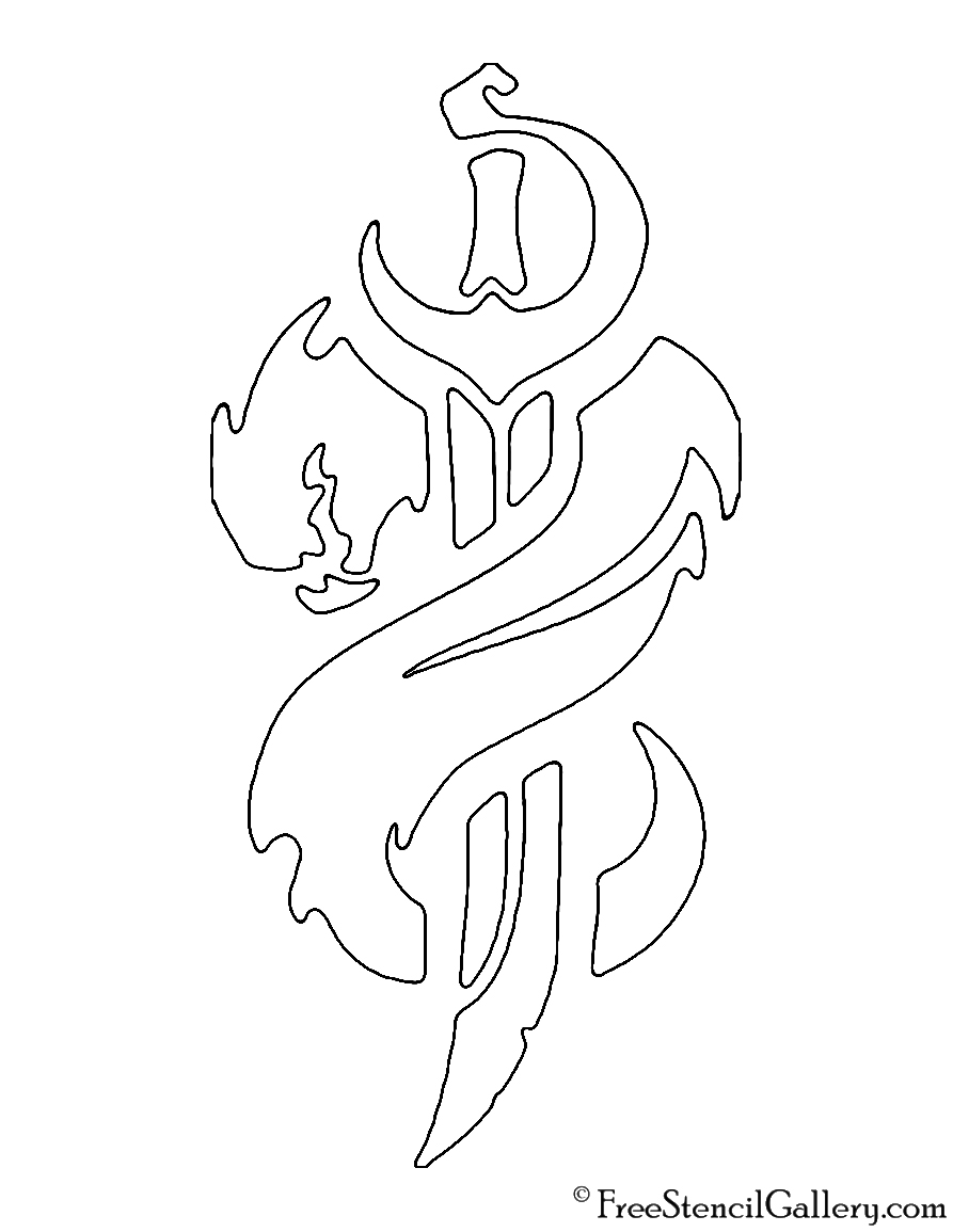 League of Legends - Bilgewater Crest Stencil