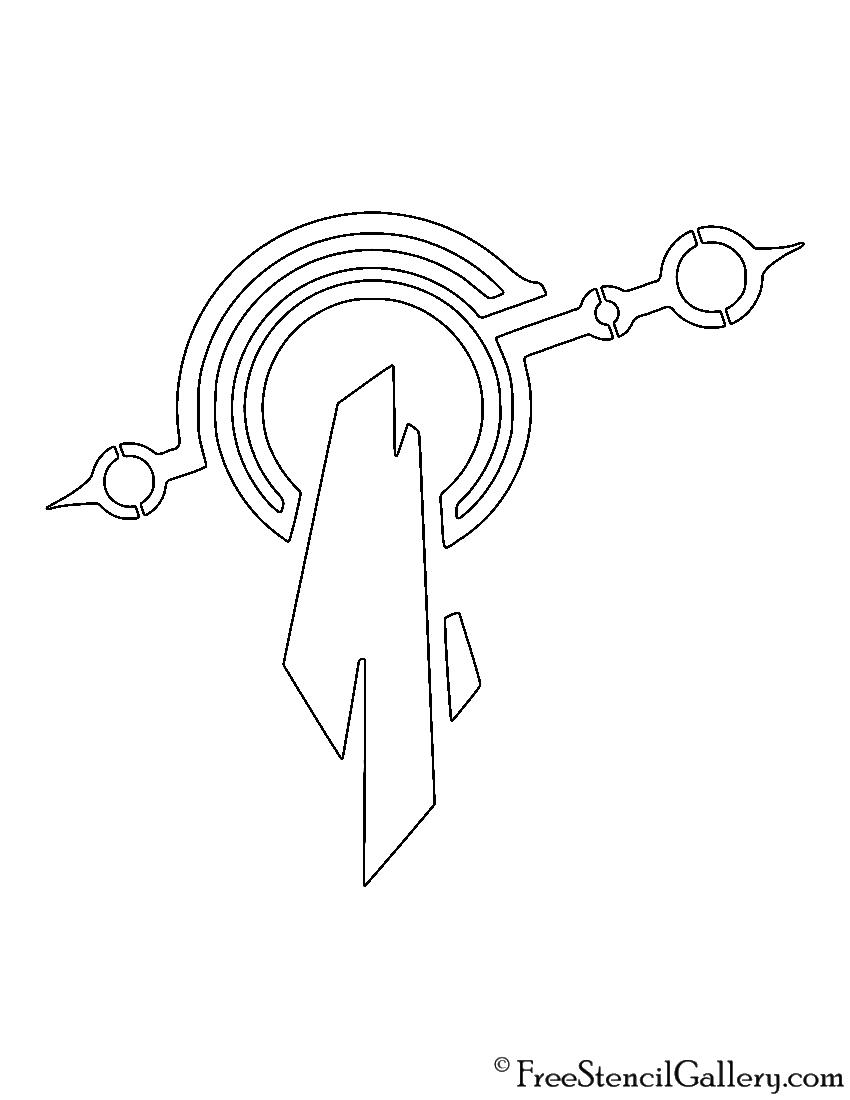 League of Legends - Mount Targon Crest Stencil
