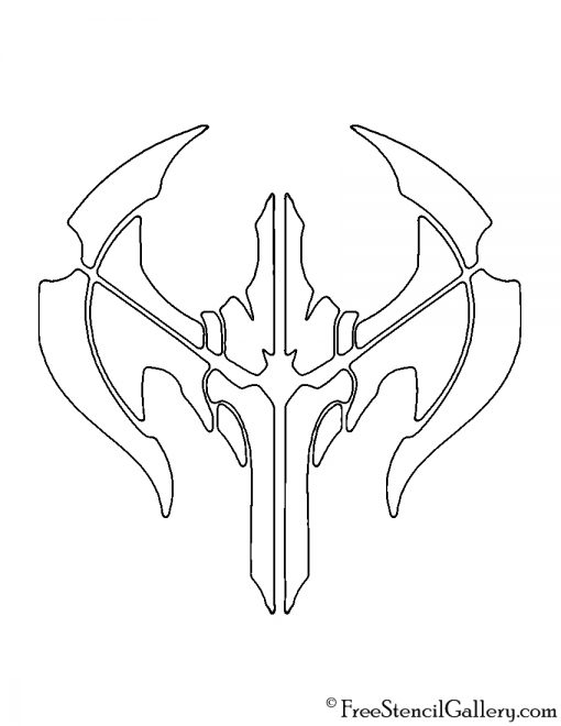 League of Legends - Noxus Crest Stencil