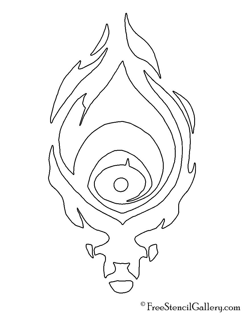 League of Legends - Shadow Isles Crest Stencil