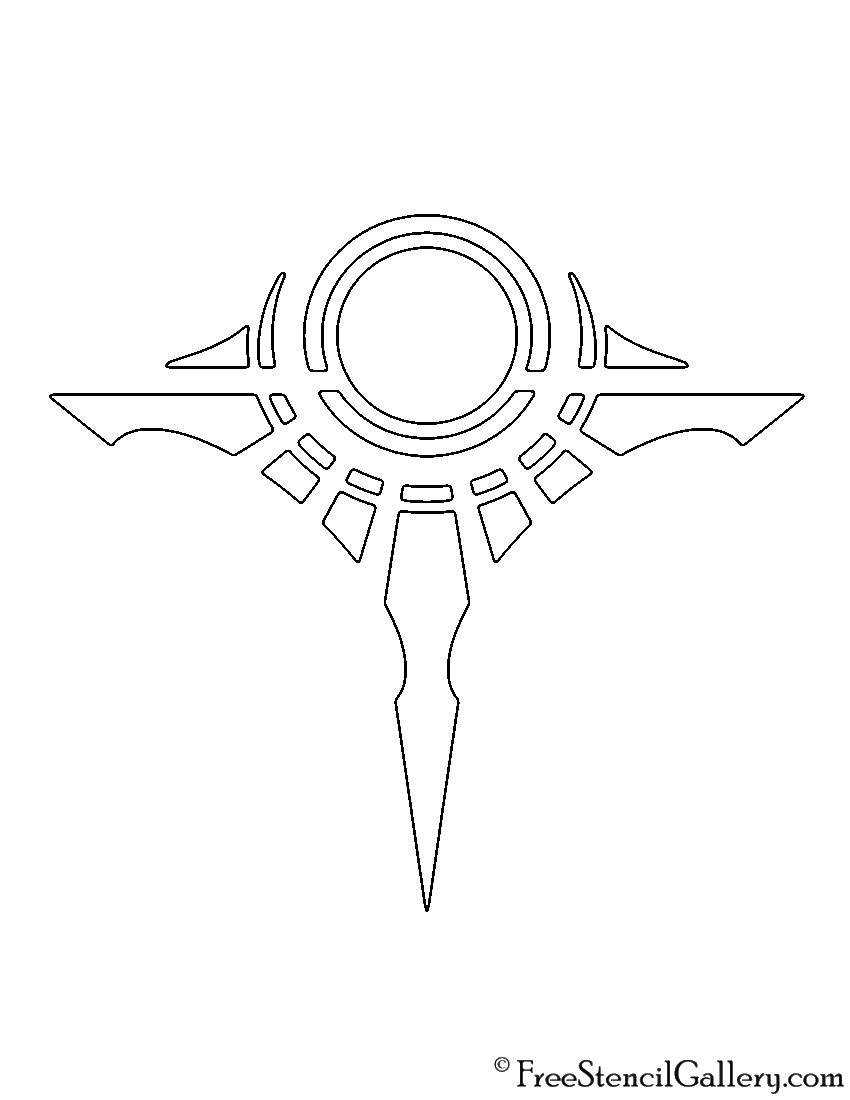 League of Legends - Shurima Crest Stencil