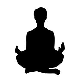 Meditation Silhouette 01 Stencil