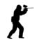Paintball Silhouette Stencil