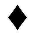 Playing Card Suit - Diamond Stencil