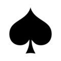 Playing Card Suit - Spade Stencil