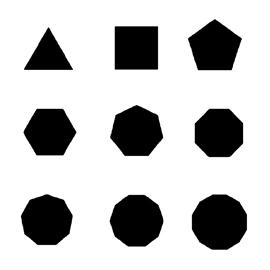 Polygon Shapes Stencil