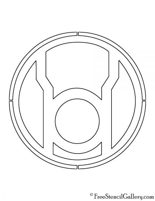 Red Lantern Corps Symbol Stencil