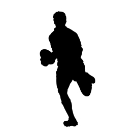 Rugby Player Silhouette 01 Stencil