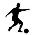 Soccer Player Silhouette 01 Stencil