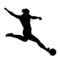 Soccer Player Silhouette 04 Stencil