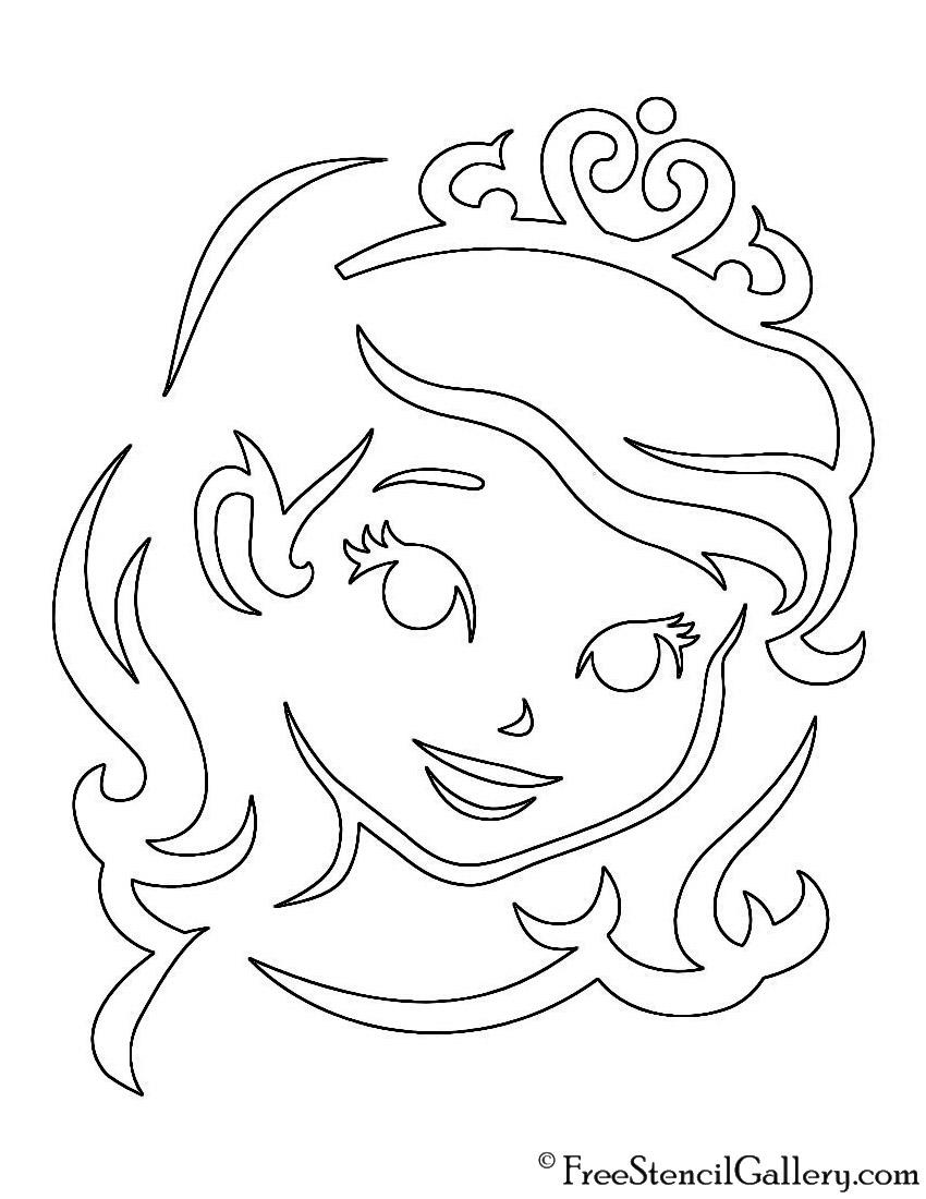 Sofia the First Stencil