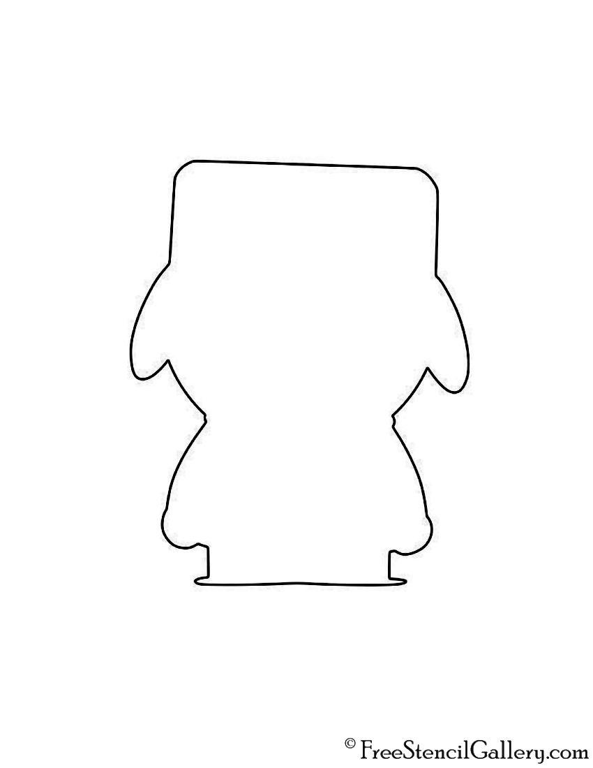 South Park - Kyle Silhouette Stencil