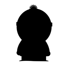 South Park – Stan Silhouette Stencil