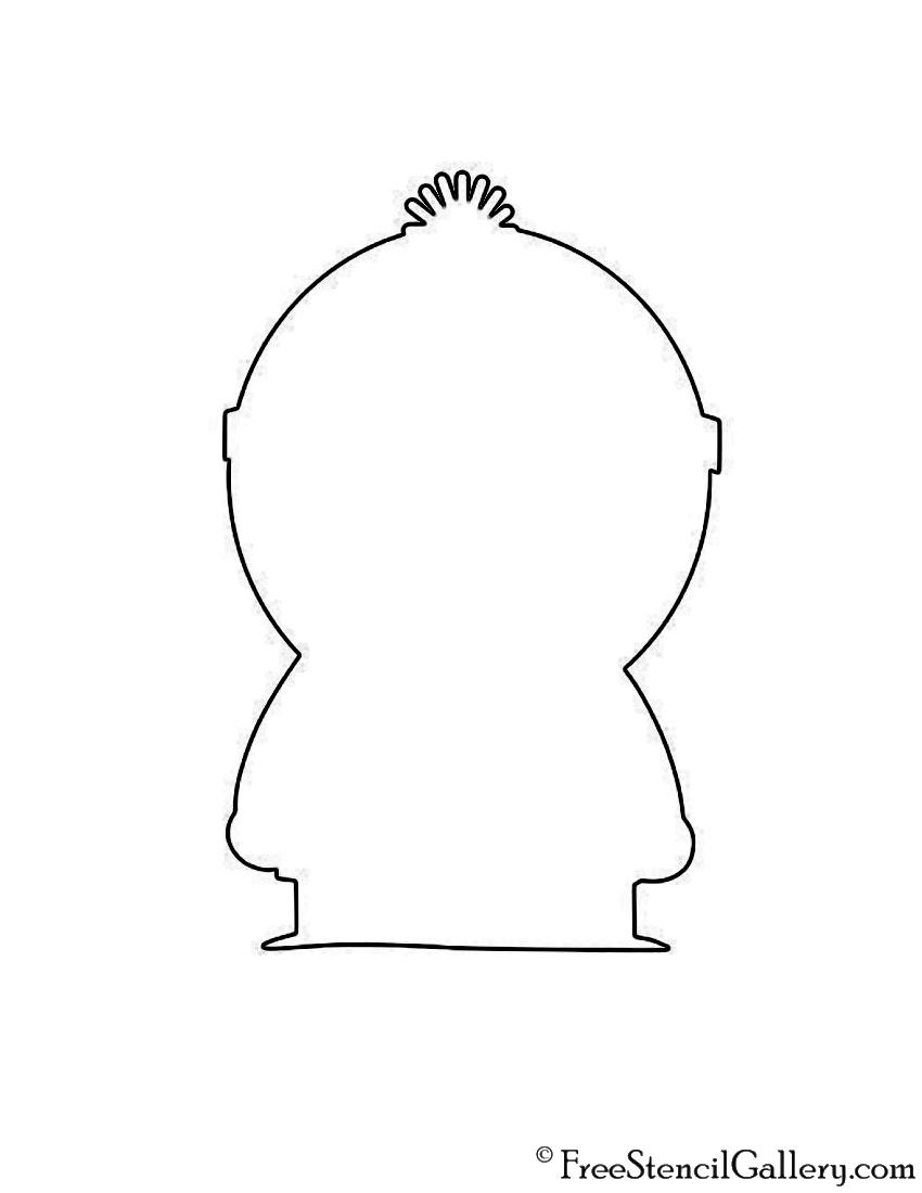 South Park - Stan Silhouette Stencil