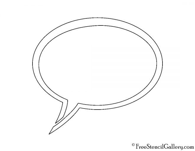 Speech Bubble 01 Stencil
