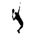 Tennis Player Silhouette 01 Stencil